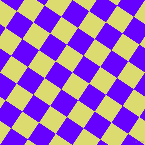 56/146 degree angle diagonal checkered chequered squares checker pattern checkers background, 70 pixel squares size, , Goldenrod and Electric Indigo checkers chequered checkered squares seamless tileable