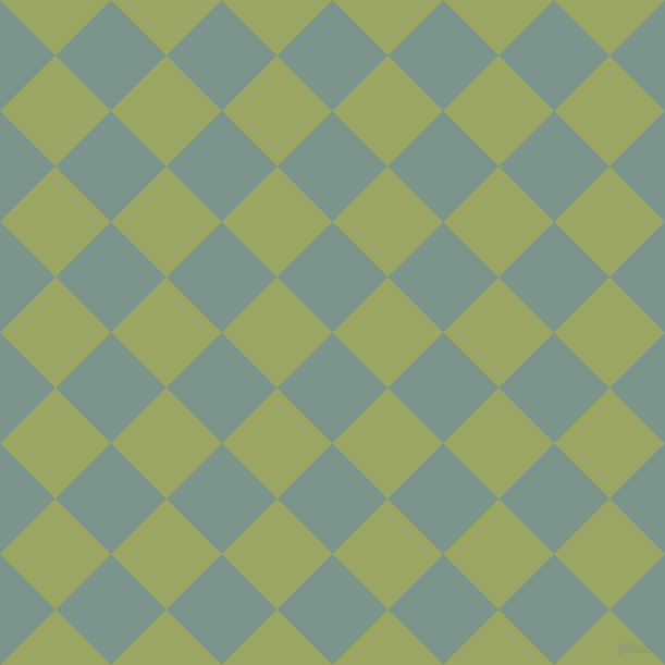 45/135 degree angle diagonal checkered chequered squares checker pattern checkers background, 72 pixel squares size, , Granny Smith and Green Smoke checkers chequered checkered squares seamless tileable
