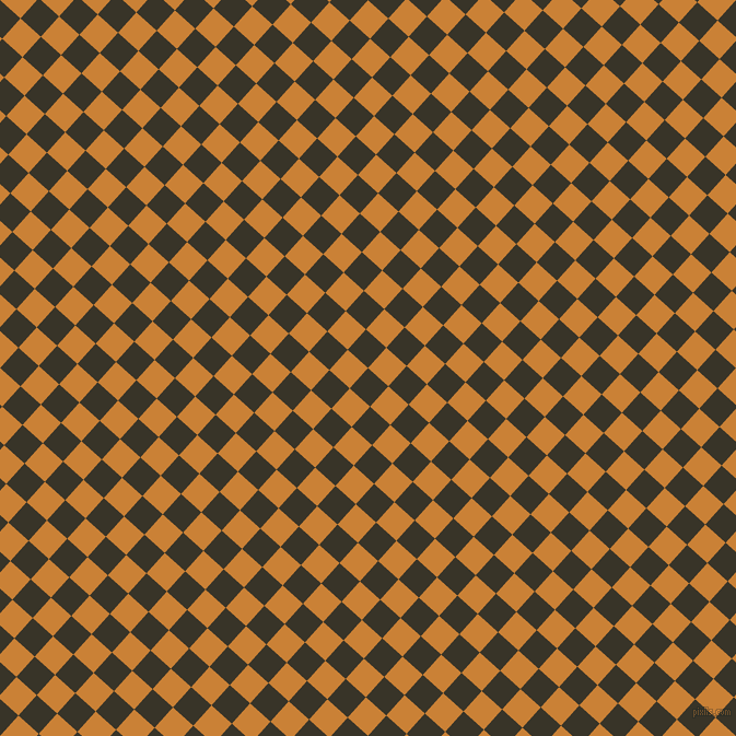 48/138 degree angle diagonal checkered chequered squares checker pattern checkers background, 25 pixel square size, , Graphite and Golden Bell checkers chequered checkered squares seamless tileable