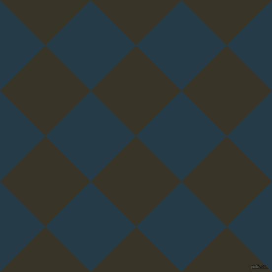 45/135 degree angle diagonal checkered chequered squares checker pattern checkers background, 130 pixel square size, Graphite and Tarawera checkers chequered checkered squares seamless tileable