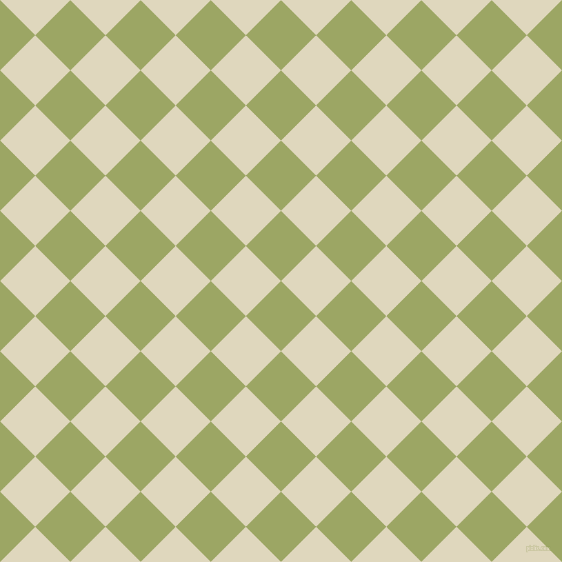 45/135 degree angle diagonal checkered chequered squares checker pattern checkers background, 72 pixel squares size, , Green Smoke and Wheatfield checkers chequered checkered squares seamless tileable