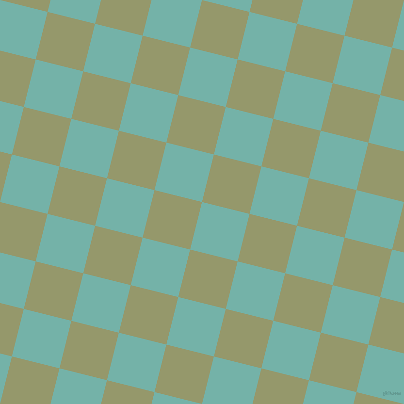 76/166 degree angle diagonal checkered chequered squares checker pattern checkers background, 101 pixel square size, , Gulf Stream and Avocado checkers chequered checkered squares seamless tileable