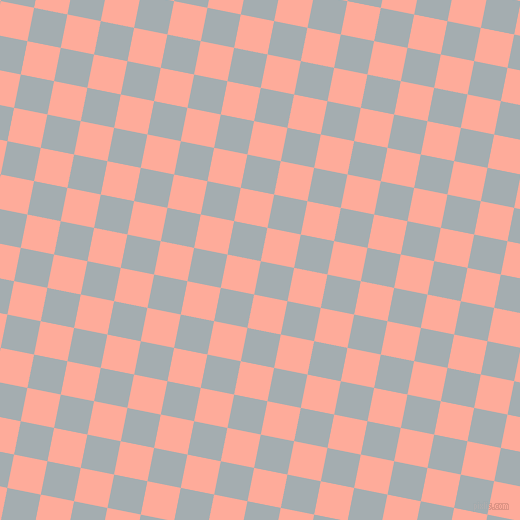79/169 degree angle diagonal checkered chequered squares checker pattern checkers background, 34 pixel squares size, , Gull Grey and Rose Bud checkers chequered checkered squares seamless tileable