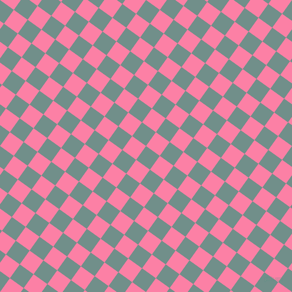 54/144 degree angle diagonal checkered chequered squares checker pattern checkers background, 34 pixel squares size, , Gumbo and Tickle Me Pink checkers chequered checkered squares seamless tileable