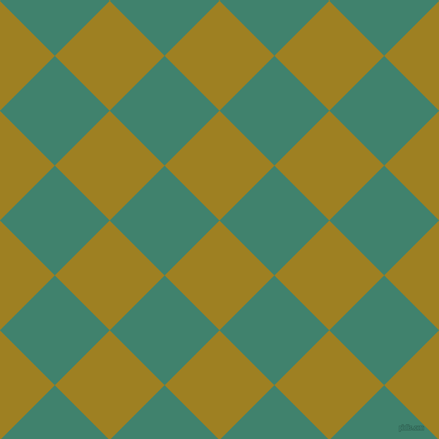 45/135 degree angle diagonal checkered chequered squares checker pattern checkers background, 110 pixel square size, , Hacienda and Viridian checkers chequered checkered squares seamless tileable