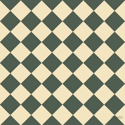 45/135 degree angle diagonal checkered chequered squares checker pattern checkers background, 48 pixel squares size, , Half Colonial White and Nandor checkers chequered checkered squares seamless tileable