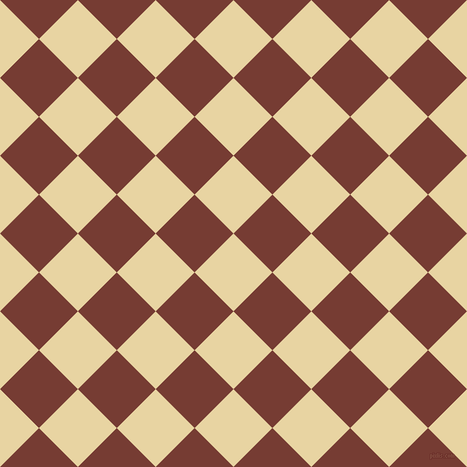 45/135 degree angle diagonal checkered chequered squares checker pattern checkers background, 78 pixel squares size, , Hampton and Crown Of Thorns checkers chequered checkered squares seamless tileable