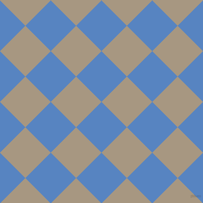 45/135 degree angle diagonal checkered chequered squares checker pattern checkers background, 125 pixel square size, , Havelock Blue and Bronco checkers chequered checkered squares seamless tileable