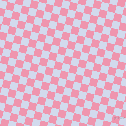 76/166 degree angle diagonal checkered chequered squares checker pattern checkers background, 26 pixel squares size, , Hawkes Blue and Illusion checkers chequered checkered squares seamless tileable