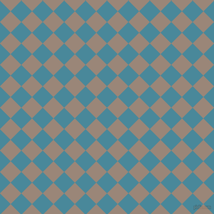 45/135 degree angle diagonal checkered chequered squares checker pattern checkers background, 31 pixel square size, , Hippie Blue and Almond Frost checkers chequered checkered squares seamless tileable
