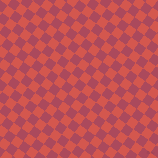 54/144 degree angle diagonal checkered chequered squares checker pattern checkers background, 39 pixel squares size, , Hippie Pink and Valencia checkers chequered checkered squares seamless tileable