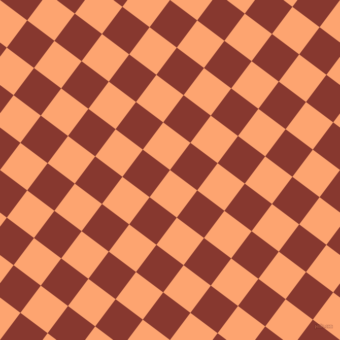 53/143 degree angle diagonal checkered chequered squares checker pattern checkers background, 67 pixel square size, , Hit Pink and Crab Apple checkers chequered checkered squares seamless tileable