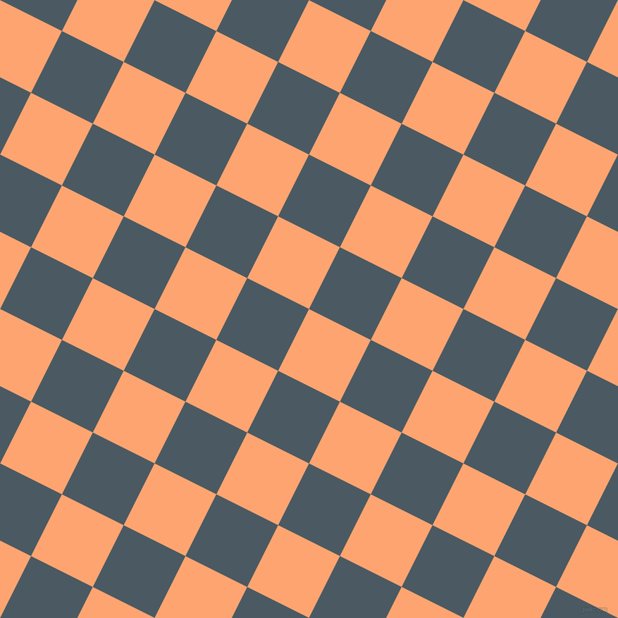 63/153 degree angle diagonal checkered chequered squares checker pattern checkers background, 98 pixel square size, , Hit Pink and Fiord checkers chequered checkered squares seamless tileable