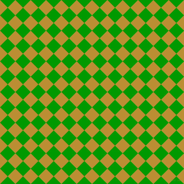 45/135 degree angle diagonal checkered chequered squares checker pattern checkers background, 36 pixel squares size, , Hokey Pokey and Islamic Green checkers chequered checkered squares seamless tileable