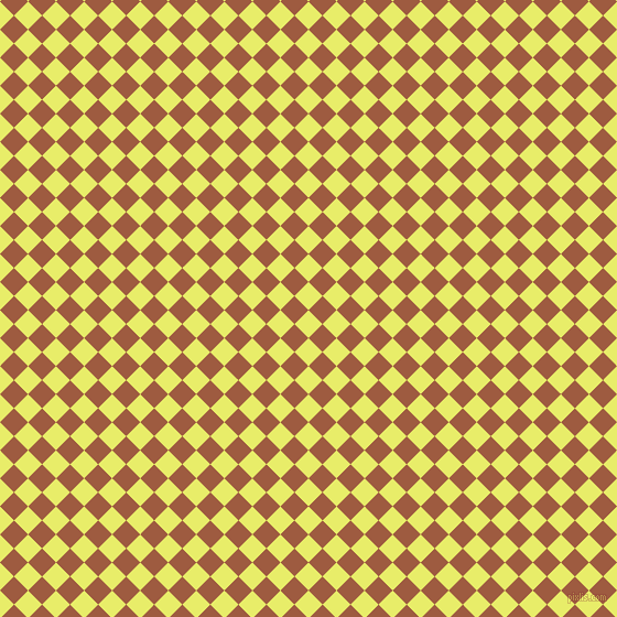 45/135 degree angle diagonal checkered chequered squares checker pattern checkers background, 18 pixel square size, , Honeysuckle and Sepia checkers chequered checkered squares seamless tileable