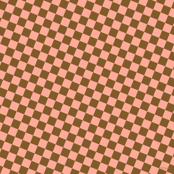 68/158 degree angle diagonal checkered chequered squares checker pattern checkers background, 28 pixel square size, , Hot Curry and Rose Bud checkers chequered checkered squares seamless tileable