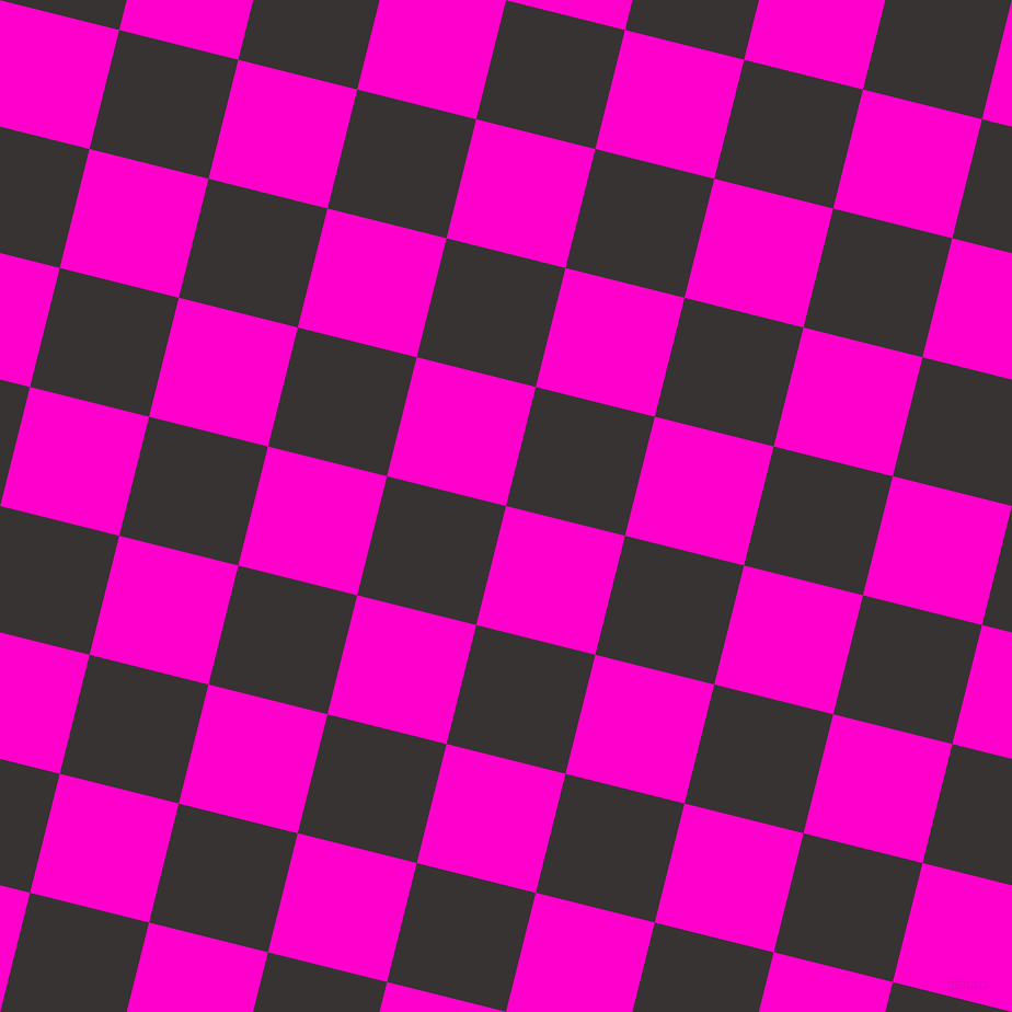 76/166 degree angle diagonal checkered chequered squares checker pattern checkers background, 112 pixel squares size, , Hot Magenta and Gondola checkers chequered checkered squares seamless tileable