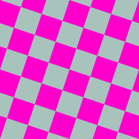 72/162 degree angle diagonal checkered chequered squares checker pattern checkers background, 73 pixel squares size, , Hot Magenta and Opal checkers chequered checkered squares seamless tileable