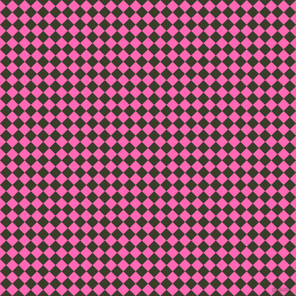 45/135 degree angle diagonal checkered chequered squares checker pattern checkers background, 17 pixel square size, , Hot Pink and Green Kelp checkers chequered checkered squares seamless tileable