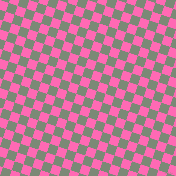 72/162 degree angle diagonal checkered chequered squares checker pattern checkers background, 38 pixel square size, , Hot Pink and Spanish Green checkers chequered checkered squares seamless tileable