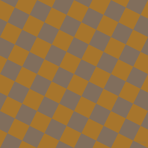 63/153 degree angle diagonal checkered chequered squares checker pattern checkers background, 56 pixel squares size, Hot Toddy and Donkey Brown checkers chequered checkered squares seamless tileable