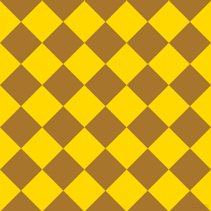 45/135 degree angle diagonal checkered chequered squares checker pattern checkers background, 60 pixel squares size, , Hot Toddy and School Bus Yellow checkers chequered checkered squares seamless tileable