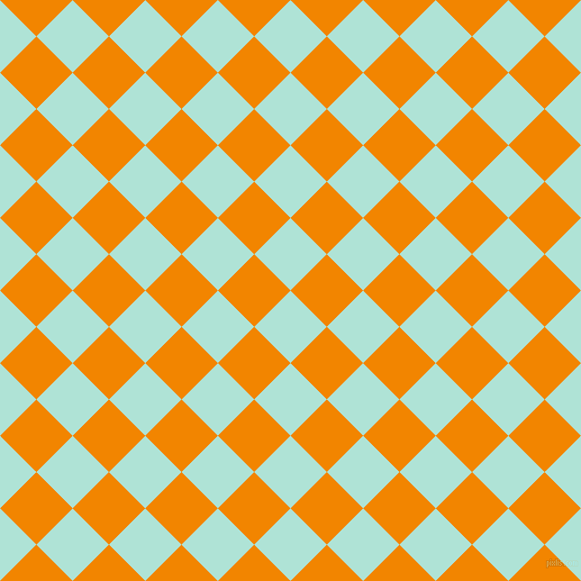45/135 degree angle diagonal checkered chequered squares checker pattern checkers background, 57 pixel squares size, , Ice Cold and Tangerine checkers chequered checkered squares seamless tileable