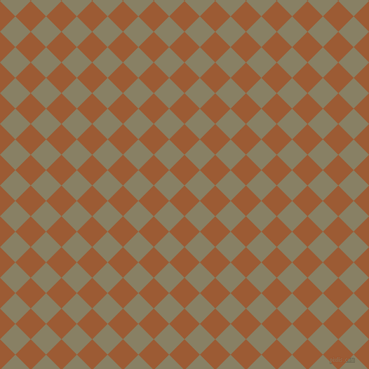 45/135 degree angle diagonal checkered chequered squares checker pattern checkers background, 31 pixel squares size, , Indochine and Olive Haze checkers chequered checkered squares seamless tileable