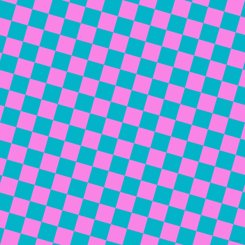 74/164 degree angle diagonal checkered chequered squares checker pattern checkers background, 66 pixel square size, , Iris Blue and Pale Magenta checkers chequered checkered squares seamless tileable