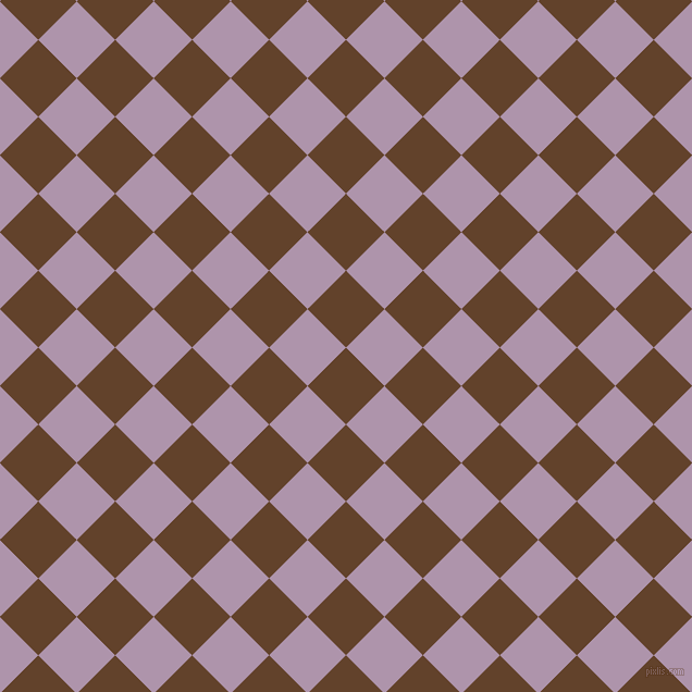 45/135 degree angle diagonal checkered chequered squares checker pattern checkers background, 50 pixel square size, , Irish Coffee and London Hue checkers chequered checkered squares seamless tileable