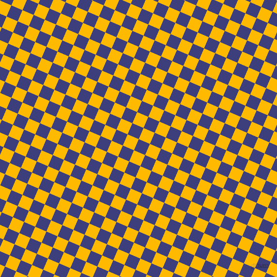 67/157 degree angle diagonal checkered chequered squares checker pattern checkers background, 25 pixel square size, , Jacksons Purple and Selective Yellow checkers chequered checkered squares seamless tileable