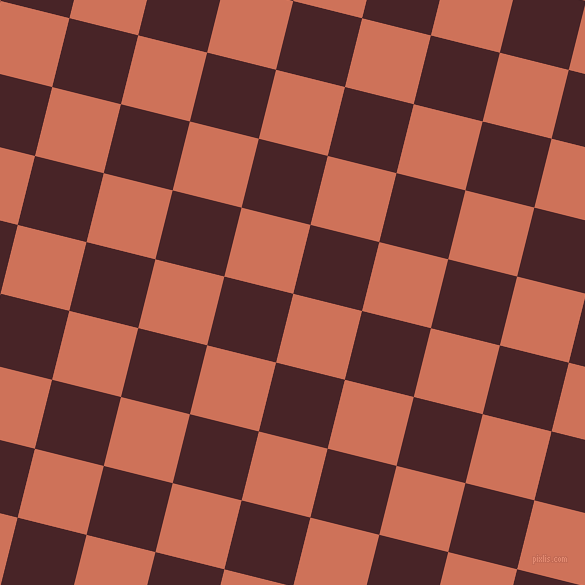 76/166 degree angle diagonal checkered chequered squares checker pattern checkers background, 71 pixel square size, Japonica and Bulgarian Rose checkers chequered checkered squares seamless tileable