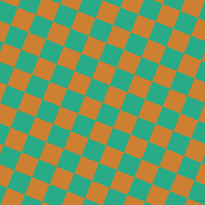68/158 degree angle diagonal checkered chequered squares checker pattern checkers background, 65 pixel square size, , Jungle Green and Bronze checkers chequered checkered squares seamless tileable