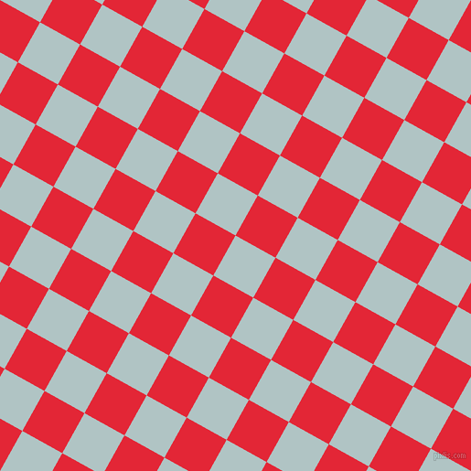 61/151 degree angle diagonal checkered chequered squares checker pattern checkers background, 50 pixel square size, , Jungle Mist and Alizarin checkers chequered checkered squares seamless tileable
