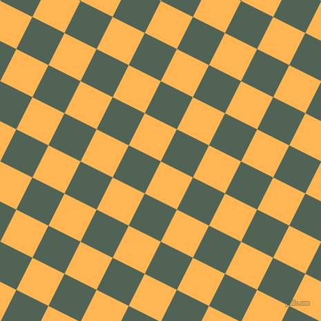 63/153 degree angle diagonal checkered chequered squares checker pattern checkers background, 52 pixel square size, , Koromiko and Mineral Green checkers chequered checkered squares seamless tileable