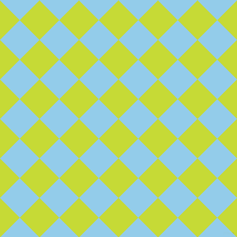 45/135 degree angle diagonal checkered chequered squares checker pattern checkers background, 97 pixel squares size, , Las Palmas and Cornflower checkers chequered checkered squares seamless tileable