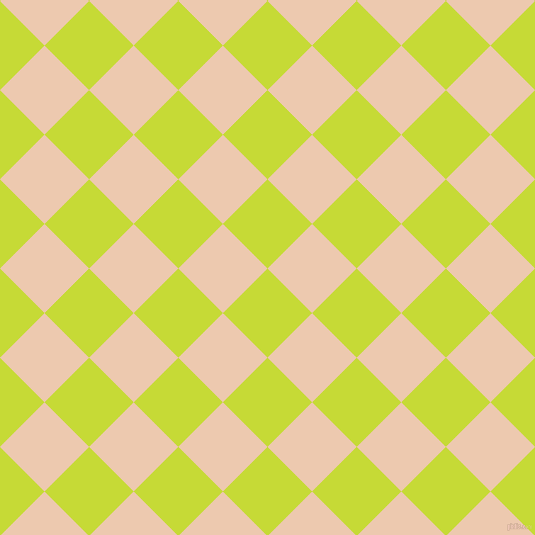 45/135 degree angle diagonal checkered chequered squares checker pattern checkers background, 89 pixel square size, , Las Palmas and Desert Sand checkers chequered checkered squares seamless tileable