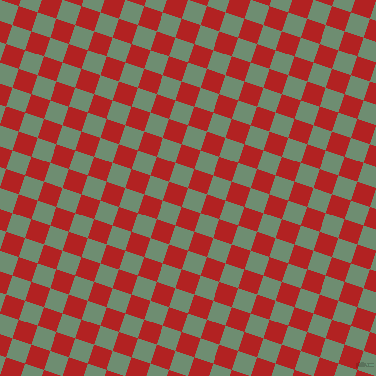 72/162 degree angle diagonal checkered chequered squares checker pattern checkers background, 40 pixel square size, Laurel and Fire Brick checkers chequered checkered squares seamless tileable