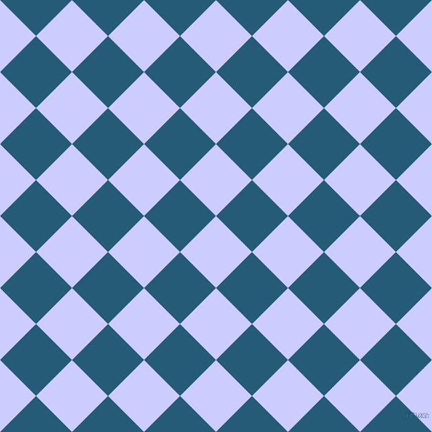 45/135 degree angle diagonal checkered chequered squares checker pattern checkers background, 74 pixel squares size, , Lavender Blue and Orient checkers chequered checkered squares seamless tileable