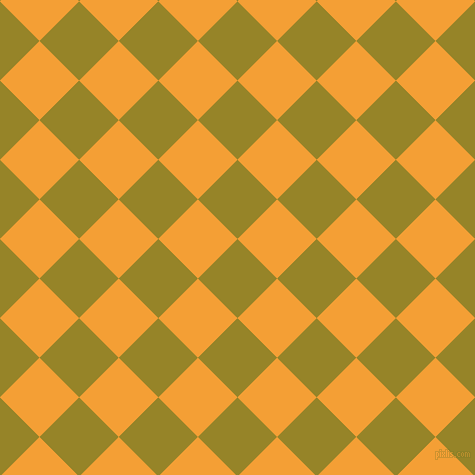45/135 degree angle diagonal checkered chequered squares checker pattern checkers background, 56 pixel squares size, , Lemon Ginger and Yellow Sea checkers chequered checkered squares seamless tileable