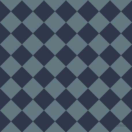 45/135 degree angle diagonal checkered chequered squares checker pattern checkers background, 54 pixel squares size, , Licorice and Blue Bayoux checkers chequered checkered squares seamless tileable