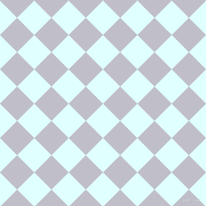 45/135 degree angle diagonal checkered chequered squares checker pattern checkers background, 50 pixel square size, , Light Cyan and Ghost checkers chequered checkered squares seamless tileable