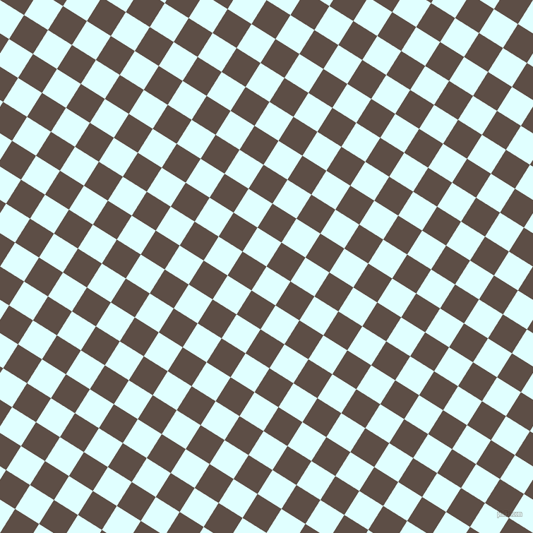 58/148 degree angle diagonal checkered chequered squares checker pattern checkers background, 40 pixel squares size, , Light Cyan and Saddle checkers chequered checkered squares seamless tileable