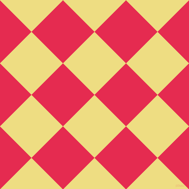 45/135 degree angle diagonal checkered chequered squares checker pattern checkers background, 187 pixel squares size, , Light Goldenrod and Amaranth checkers chequered checkered squares seamless tileable