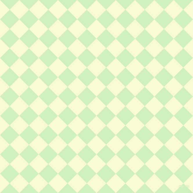 45/135 degree angle diagonal checkered chequered squares checker pattern checkers background, 47 pixel squares size, , Light Goldenrod Yellow and Tea Green checkers chequered checkered squares seamless tileable