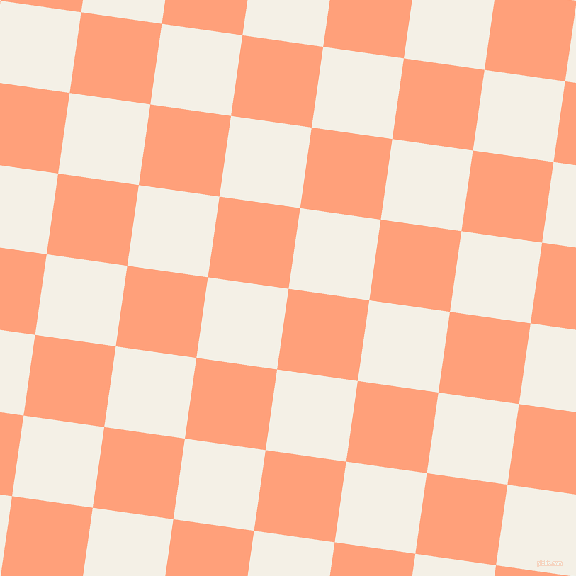 82/172 degree angle diagonal checkered chequered squares checker pattern checkers background, 115 pixel squares size, , Light Salmon and Romance checkers chequered checkered squares seamless tileable