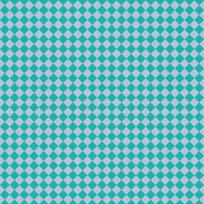 45/135 degree angle diagonal checkered chequered squares checker pattern checkers background, 23 pixel squares size, , Light Sea Green and Spindle checkers chequered checkered squares seamless tileable