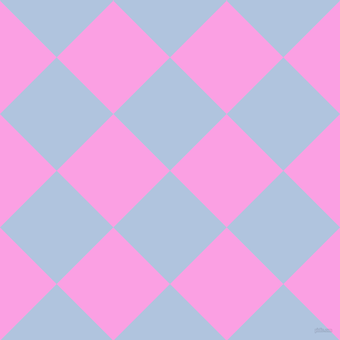 45/135 degree angle diagonal checkered chequered squares checker pattern checkers background, 165 pixel squares size, , Light Steel Blue and Lavender Rose checkers chequered checkered squares seamless tileable