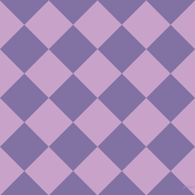45/135 degree angle diagonal checkered chequered squares checker pattern checkers background, 113 pixel squares size, , Lilac and Deluge checkers chequered checkered squares seamless tileable