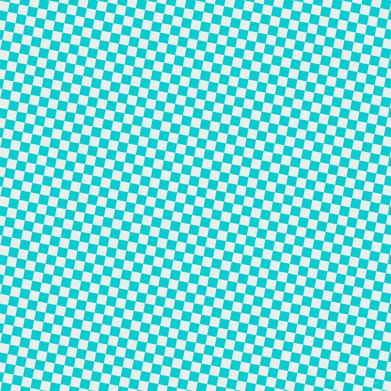 79/169 degree angle diagonal checkered chequered squares checker pattern checkers background, 19 pixel square size, , Lily White and Dark Turquoise checkers chequered checkered squares seamless tileable